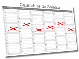 Calendrier Shiatsu