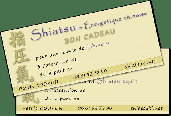 Bons-cadeaux Shiatsu